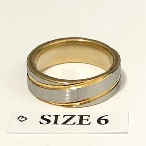 Gold and Silver Tone Ring, Size 6